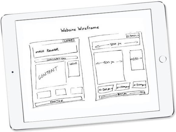 Wireframes developed by Micro-Comp.com
